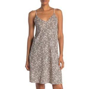 ATM Lunar Leopard Cotton Knit Slip Dress MED, LRG